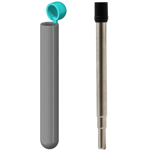 Skittle Reuseable straw, Dark Grey/Sky Blue