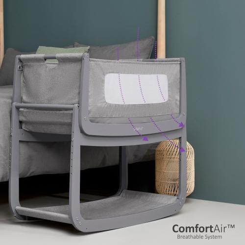 SnuzPod Bedside Crib, H49 x W95cm, Urban