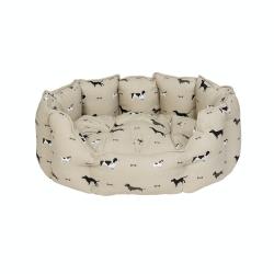 Woof! Medium pet bed, 69 x 26 x 52.5cm, removable cushion