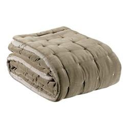 Elise Velvet Bed cover, 240 x 260cm, taupe