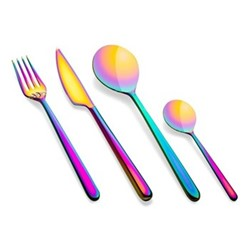Linea 24 piece cutlery set, iridescent