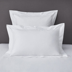 Savoy - 400 Thread Count Egyptian Cotton Super king oxford pillowcase (with border), 50 x 90cm, White