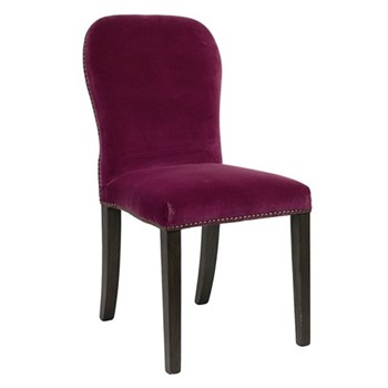 Stafford Velvet chair, L59 x W45 x H92cm, raspberry