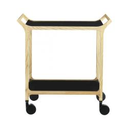 Teatime Trolley, W75 x D48 x H76cm, Black Ash