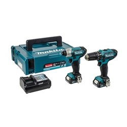 Cordless 10.8V CXT combi impact drill twin pack