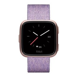 Fitbit Versa Speical Edition Health & fitness smartwatch with heart rate monitor, W4.1 x D25.6cm, lavender woven