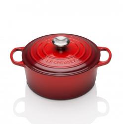 Signature Cast Iron Round casserole, 30cm - 8.1 litre, Cerise