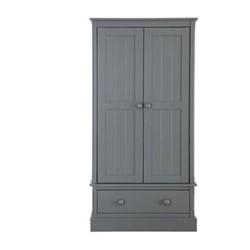 Charterhouse Wardrobe, H182 x W91 x D52cm, dark grey