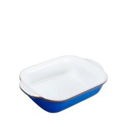 Imperial Blue Small rectangular oven dish, 0.71 litre - L21.5 x W13.5 x D5.5cm