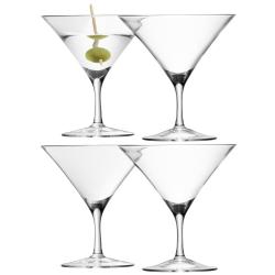 Bar Set of 4 martini glasses, 180ml, clear