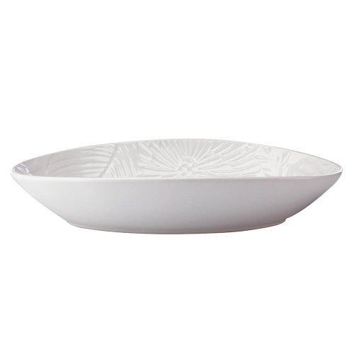 Panama Panama Stoneware Oval Serving Bowl Gift Boxed, White