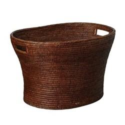 Tisser Large basket, L60 x W43 x H36cm, brown rattan