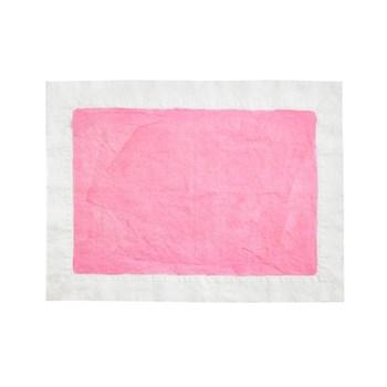 Full Field Linen placemat, rose pink