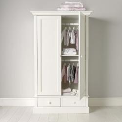 Classic Wardrobe, 178 x 106 x 55cm, White