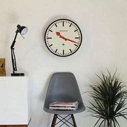 Putney Wall clock, 45cm, black metal