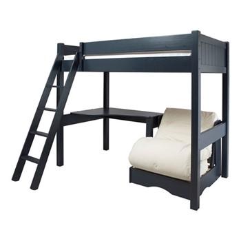 Warwick High-sleeper with futon, L202 x W102 x H177cm, prussian blue