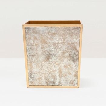 Atwater Wastebasket, H28 x W21cm, gold