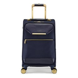Albany Small 4 wheel cabin suitcase, L55 x W36 x D25cm, navy
