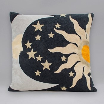 The Galaxy Cushion, 45 x 45cm, silver/gold
