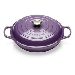 Signature Cast Iron Shallow casserole, 30 x 6cm - 3.2 litre, ultra violet