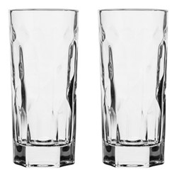 Club Pair of large tumblers, Dia7 x H15cm - 35cl, clear