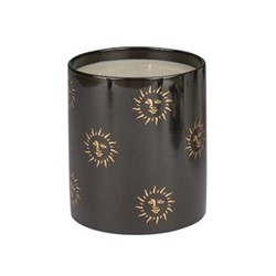 Sun Large candle, H18 x W15cm, black and gold