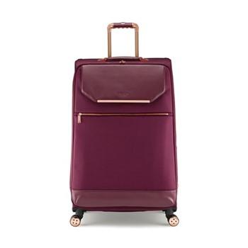Albany Large 4 wheel trolley suitcase, L80 x W50 x D34cm, burgundy