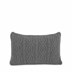 Harrison Cushion cover, L35 x W55cm, grey marl