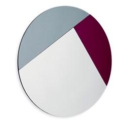 Nouveau 90 Wall mirror, Dia90 x 1.2cm, burgundy/silver