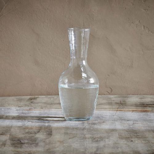 Yala Hammered Jug Clear, One Size, Clear Glass
