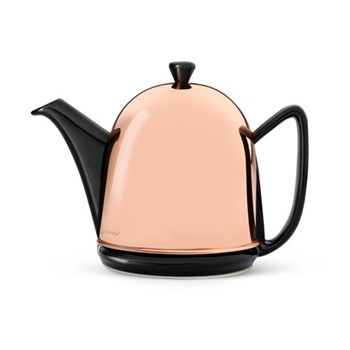 Manto Teapot, 1 Litre, copper and black