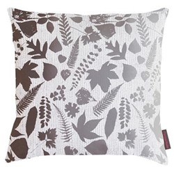 Falling Leaves Cushion, 45 x 45cm, white/grey ombre