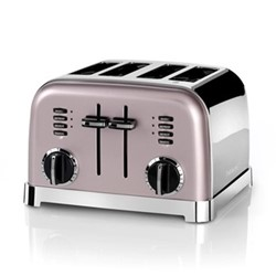 Style Collection CPT180PU 4 Slice toaster, vintage rose