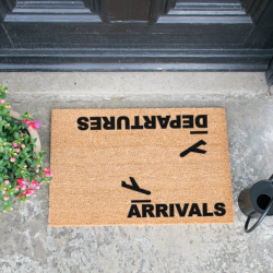 Arrivals, Departures Doormat, L60 x W40 x H1.5cm
