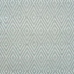 Diamond Polypropylene indoor/outdoor rug, W61 x L91cm, Light Blue/Ivory