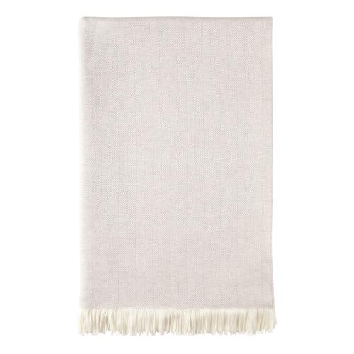 Merino bed throw, 230 x 150cm, Silver Birch & White