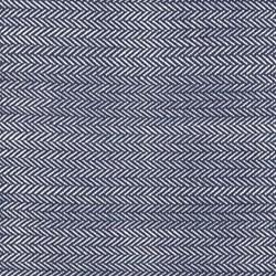Herringbone Woven cotton rug, W76 x L244cm, indigo