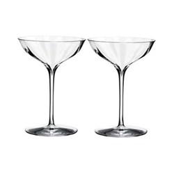 Elegance Optic Pair of champagne glasses, H155 x W115 x D116cm