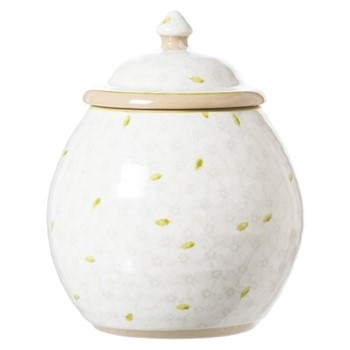 Lawn Cookie jar, H22.9 x W10.8cm, white