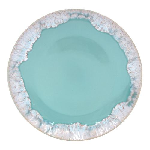Taormina Set of 6 dinner plates, 27cm, Aqua