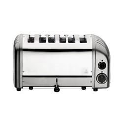 Classic Bun toaster, 6 slot, metallic silver