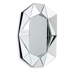 Diamond Small wall mirror, 57.6 x H80 x D6cm, silver