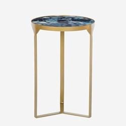 Ida Side table, H56 x W36.5 x D36.5cm, cobalt
