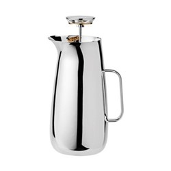 Foster by Norman Foster Press tea maker, H24cm - 1 litre, stainless steel