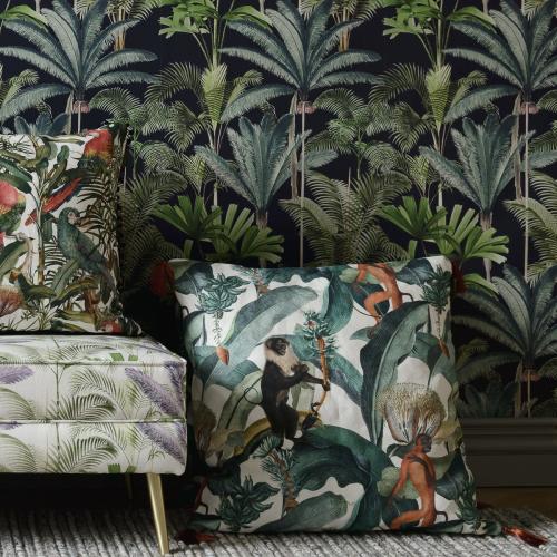 Bermuda Square cushion, L50 x W50cm, Multi