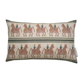 Caballo Cushion, 42 x 70cm, blue red