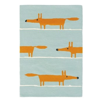 Mr Fox Rug, W140 x L200cm, aqua