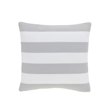 Fresh American - Catamaran Polypropylene indoor/outdoor cushion, 53 x 53cm, pearl grey/white
