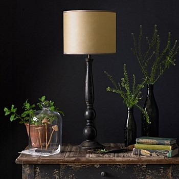 Otto Large table lamp - base only, H49 x W13cm, black