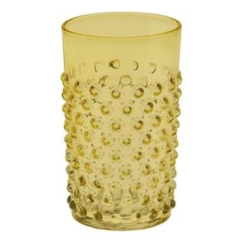 Bobble Glass tumbler, 20cl, amber
